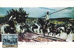 Carte-Maximum ESPAGNE N° Yvert 1223 (SOROLLA) Obl Sp Ill 1er Jour 1964 - Cartoline Maximum