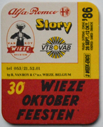 Sous-bock 30e WIEZE Oktober Feesten ALFA ROMEO STORY VTB VAB Van Roy 1986 Bierdeckel Bierviltje Coaster (CX) - Sous-bocks