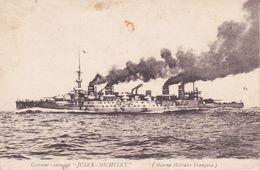 """CPA  Croiseur - Cuirassé  """"JULES - MICHELET"""" Marine Militaire Française . ..F848 - Krieg"""