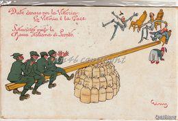 """Humor_Caricature_Satira_Allegoria_Illustratore Crimj """"Date Denaro Per La Vittoria""""Sottoscrivete _Originale 100%_2 Scan- - Humor"""