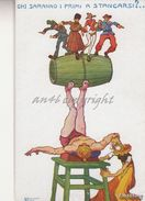 """Humor_Caricature_Satira_Allegoria_Illustratore Stroppa""""CHI SARANNO I PRIMI A STANCARSI ?"""" _Originale 100%_2 Scan- - Humour"""