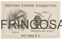 CARD: BRITISH EMPIRE EXHIBITION WEMBLEY - Pubblicitari