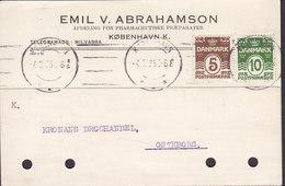 Denmark EMIL V. ABRAHAMSON Pharmaceutiske Præp. TMS Cds. KØBENHAVN 1925 Card Karte GÖTEBORG Sweden (2 Scans) - 1913-47 (Christian X)