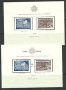 Lettland Latvia 1938/39 Michel Block 1 Z + 2 Z MNH/MH (stamps Are MNH, Blocks Are MH/*) - Lettland