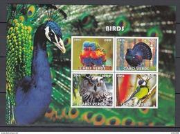 Cabo Verde 2016,4V In Block,IMP,birds,pauwl,vogels,vögel,oiseaux,pajaros,uccelli,aves,MNH/Postfris(L3134) - Vogels