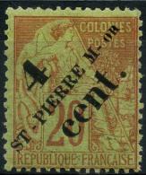 Saint Pierre Et Miquelon (1891) N 41 * (charniere) - Used Stamps