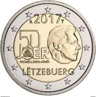 Luxemburg  2017  2 Euro Commemo 50 Jaar Gratis Milit. Dienst  (250.000) UNC Uit De Rol  UNC Du Rouleaux LEVERBAAR !!! - Luxembourg