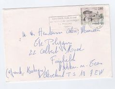 1995 FRANCE COVER Stamps SIMENON, SMOKING PIPE ,literature Health SLOGAN Pmk TENNIS OLYMPIC SWIMMING Sport - Tobacco