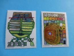 Sénégal, Hundertwasser 1979, Paire 100 F Et 200 F, Neufs SC ; Ref Album 01 - Senegal (1960-...)
