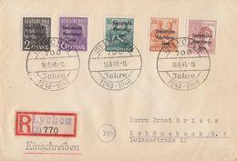 SBZ R-Brief Mif Minr.182,183,188,190,A196 SST Lychen 16.8.48 - Sowjetische Zone (SBZ)