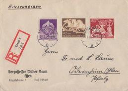 DR R-Brief Mif Minr.815,816,818 Essen 19.1.43 - Briefe U. Dokumente