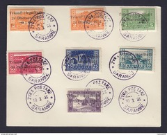 TIMBRE. LETTRE. ENVELOPPE. ALBANIE. 1924 SERIE N° 144/150 SARANDE. ZYRA POSTARE. N° 144.145.146.147.148.149.150. - Albanie