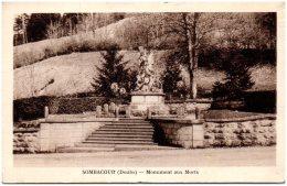 25 SOMBACOUR - Monument Aux Morts  (Recto/Verso) - Otros Municipios