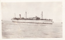 USS Matsonia, US Navy WWI Transport, C1910s Vintage Real Photo Postcard - Guerra