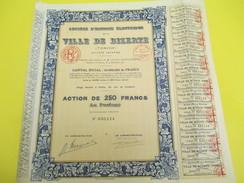 Société D'Energie Electrique De La Ville De BIZERTE/S.A./Action De 250 Francs  Au Porteur/Tunisie/Paris/1911    ACT150 - Afrika
