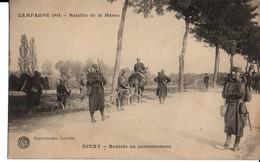 Campagne 1914 – Bataille De La Marne – ECURY – Rentrée Au Cantonnement - Non Classés