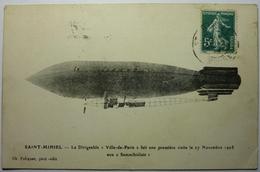 """St MIHIEL - LE DIRIGEABLE """" VILLE DE PARIS """" FAIT UNE PREMIÈRE VISITE LE 27 NOVEMBRE 1908 - Aeronaves"""
