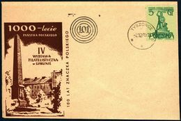 Poland 1960 Cancellation - 100 Years Of Polish Stamp, Philatelic Exhibition Lublin - Tyszowce - 1944-.... Republic