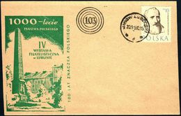 Poland 1960 Cancellation - 100 Years Of Polish Stamp, Philatelic Exhibition Lublin - Janow Lubelski - 1944-.... Republic