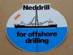 NEDDRILL For Offshore Drilling (STICKER / ZELFKLEVER / Zie/voir Details Foto ) ! - Bateaux