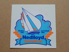 NEDLLOYD Spice Race JAKARTA 1980 ROTTERDAM (STICKER / ZELFKLEVER / Zie/voir Details Foto ) ! - Bateaux