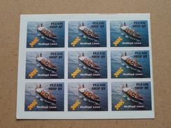 Please Ship By NEDLLOYD LINES ( Blad Met 9 Kleine Stickers :STICKER / ZELFKLEVER / Zie/voir Details Foto ) ! - Boats