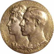 ESPAÑA. ALFONSO XIII. MEDALLA DE LA BODA REAL CON VICTORIA EUGENIA. 1.906. PLATA. ESPAGNE. SPAIN MEDAL - Monarquía/ Nobleza
