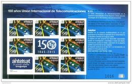 Uruguay 2015 ** M/P  150 Años UIT. Aniversario ANTELSAT. See Desc. - Telecom
