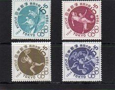 Japan, 1964, Olymp. Spiele Tokyo (VI), Michel 863/66, Postfrisch/**/MNH - Unused Stamps