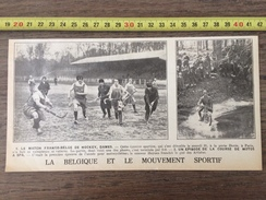 ENV 1924 MATCH FRANCO BELGE DE HOCKEY DAMES ET COURSE A SPA MOTOCYCLETTE HEYNEN - Old Paper