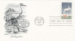 USA 1957 - FDC Brief Mit 3 C Sondermarke - Ersttagsbelege (FDC)