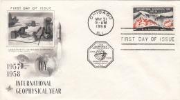 USA 1958 - FDC Brief Mit 3 C Sondermarke - Ersttagsbelege (FDC)