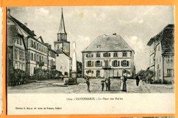 ALB342, Dannemarie, La Place Des Halles, 1744, Animée, Circulée 1917 - Dannemarie