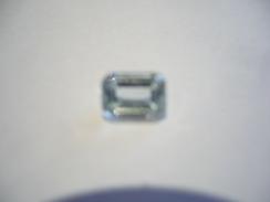 Aquamarin Edelstein - Smaragd Schliff 1,4ct (421) - Aquamarine