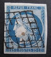 LOT R1510/2 - CERES N°4 - GRILLE NOIRE - Cote : 60,00 € - 1849-1850 Ceres