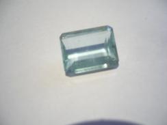 Aquamarin Edelstein - Smaragd Schliff 4,1ct (422) - Aguamarina