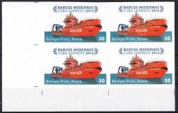 2016.359 CUBA 2016 MNH IMPERFORATED PROOF BLOCK 4. 30c MODERN SHIP. BARCOS RUSIA RUSSIA BERINGOV PROLIV. - Sin Dentar, Pruebas De Impresión Y Variedades