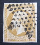 LOT R1510/7 - NAPOLEON III N°13Ab Bistre Orange -  SUPERBE ETOILE MUETTE DE PARIS - Cote : 30,00 € - 1853-1860 Napoléon III