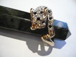 Vergoldeter Ring - Leopard Mit Blauen Saphieren (426) - Anelli