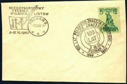 Poland 1960 Cancellation - 100 Years Of Polish Stamp 1860-1960 Stamp Day / International Letter Writing Week - Poznan - 1944-.... Republic