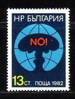 BULGARIA \ BULGARIE - 1982 - 2 Sesion Des ONU Sur Le Desarmement - NO In Atom Bomb - 1v ** - Bulgaria