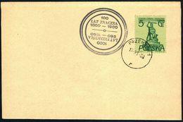 Poland 1960 Cancellation - 100 Years Of Polish Stamp 1860-1960 / 1000 Years Of Przemyśl - Przemysl 1 - 1944-.... Republic
