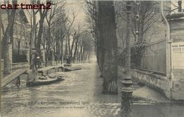 ASNIERES INONDATIONS EMBARCADERE DANS LA RUE DE BRETAGNE 92 - Asnieres Sur Seine