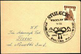 Poland 1960 Cancellation - 100 Years Of Polish Stamp 1860-1960 - Wroclaw - 1944-.... Republic
