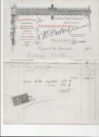 DIJON 1893:  A LA CROIX D'OR, Bijouterie Ch. DUBRET  83 Rue De La Liberté   Ref 12 - France