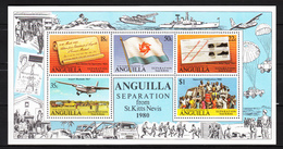 Anguilla 1980,5V In Block,Anguilla Separation From St.Kitts Nevis,MNH/Postfris(L3135) - Geschiedenis