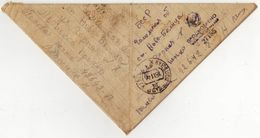 USSR 1944 Letter Triangle From The Front. The Second World War. Viewed By The Military Censor - Covers & Documents