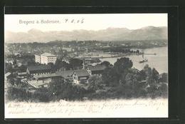 AK Bregenz Am Bodensee, Ortspanorama Mit Gebirge - Autriche