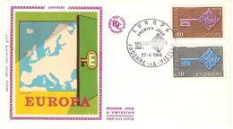 Andorra & FDC Europa CPTE, La Vielle 1968 (188) - Europa-CEPT