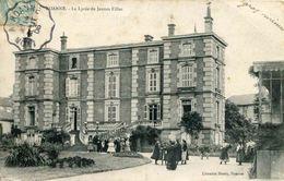 ROANNE - Le Lycée De Jeunes Filles (date 1906) (avec Cachet Des Convoyeurs Lignes LYON A ROANNE) - Roanne